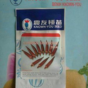 Bibit Benih Okra Merah CARMINE 5 gram